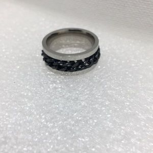 Other - Black Chain Link Wedding Band